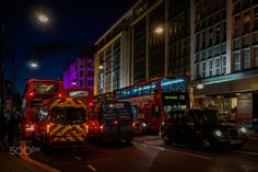 rush hour - The picture was taken in Oxford Circus, London.