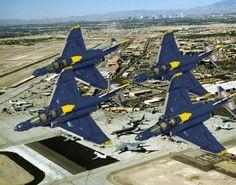 Blue Angels diamond formation of McDonnell Douglas Phantom IIs. Us Military Aircraft, Military Jets, Us Navy Blue Angels, Angel Flight, Pickup Car, F4 Phantom, Air Show, Lego Creations, Fighter Jets