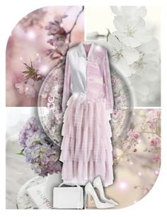 """Light Lilac & White!"" by asia-12 ❤ liked on Polyvore featuring Poesia, Helmut Lang, Chicwish, Forever New, Casadei and Mark Cross"