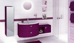 Du pep's dans sa salle de bain avec ces façades brillantes ! (Cuisines You - Gamme créative, Modèle Lindi)