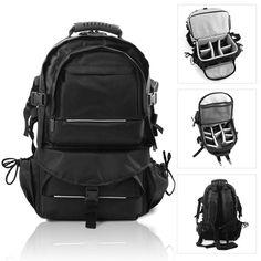 af0fe0b44654 Large Multifunctional Travel Backpack Camera SLR Bag Padded For DSLR Canon  Nikon