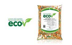 Logo et emballage pour Les légumes surgelés Eco-V de Bonduelle