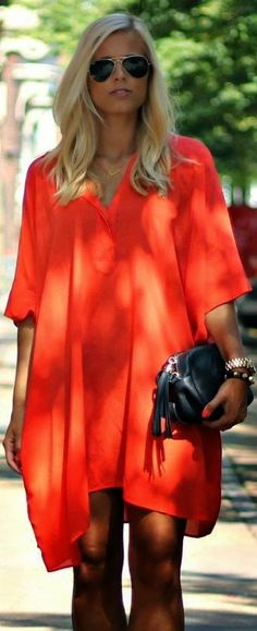 Love this loose dress / Perfect for summer !