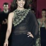 Aishwarya Rai wearing High Neck Black Blouse