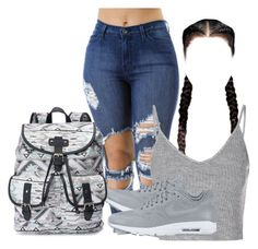 """""""Untitled #342"""" by alaijhaboo ❤ liked on Polyvore featuring Glamorous, NIKE and Candie's"""