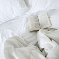 reading in bed on a Sunday morning