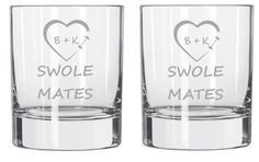 SWOLE MATES Crossfit Personalized Glass Set of by WulfCreekDesigns