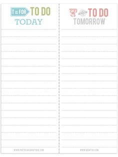 Free Printable To Do List from Photo Card Boutique, LLC