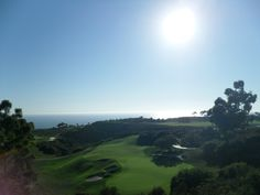 Stunningly clear day at the Pebble Beach Golf course. #travel #beach