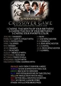 SUPERNATURAL CROSS OVER GAME