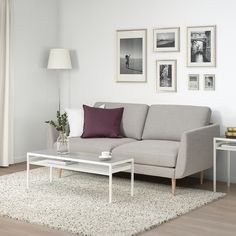 SKULTORP 2-sitssoffa - grå/beige, natur - IKEA Living Room Goals, Plywood, Hygge, Love Seat, Ikea, Couch, Inspiration, Furniture, Home Decor