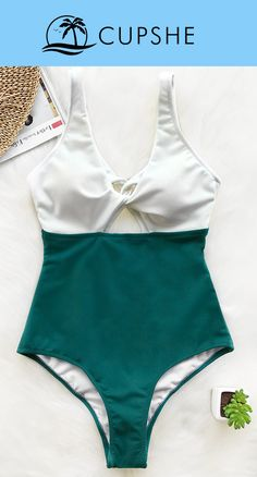 Cheer for your weekend in Cupshe Amber Dream One-piece Swimsuit. Bright white and green color sets the perfect mood everyday, one-piece style and padding bra providing you great support for feeling cozy to move around. Pack for your next leave, you will f Summer Suits, Summer Wear, New Outfits, Cute Outfits, Cute Bathing Suits, Swimming Costume, Beach Bunny, Swimsuits, Swimwear