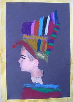 Even Egyptian Queens have to smile sometimes    Some of my first graders created an Egyptian Queen or King self portrait for their last pro...