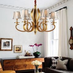 New 6 Light Chandelier Pendant Lamp