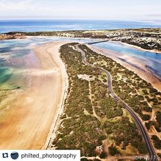 Epic #aerial shot from @philted_photography   The amazing Ocean Grove/Barwon Heads peninsula.  #destinationgeelong  #visitgeelongbellarine #idrone #idroneau #funtraveltv  #aguideto #aguidetooceangrove  #smallbusiness #shoplocal #livelovelocal  #photography #ocean #beach #surf #art #summer  #oceangrove #barwonheads #bellarine #bellarinepeninsula #gtown #geelong #melbourne #visitvictoria  #tourismgeelong #australia #seeaustralia #melbournetouristguide by a_guide_to_oceangrove…