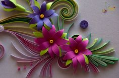 Quilling card flowers by Nelly Quilling
