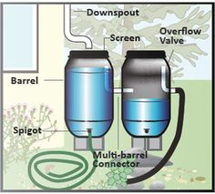 Rain Barrels, Rain Chains, and Cisterns | Water LA Outdoor Living, Water Bottle, Landscaping, Outdoor Life, Gourd, Yard Landscaping, Garden Design, Landscape, Outdoors