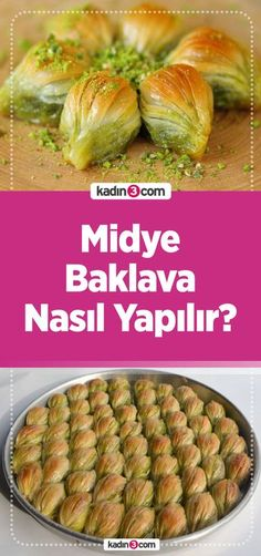 Midye Baklava Tarifi – Kadın 3 – Kadın Sitesi – Tatlı tarifleri – Las recetas más prácticas y fáciles Shellfish Recipes, Meat Recipes, Turkish Baklava, Turkish Recipes, Ethnic Recipes, Easy Meals, Dessert Recipes, Food And Drink, Gastronomia