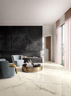 Wall Tiles Design, Floor Design, Home Room Design, Living Room Designs, Luxury Flooring, White Interior Design, Living Room Flooring, White Tiles, Living Room Grey