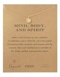 Dogeared Om Symbol Pendant Necklace Women's Gold