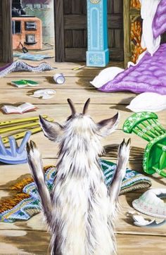 Mother goat comes home - The Wolf And The Seven Little Kids - Robert Lumley - Ladybird Book (not the camping game!)