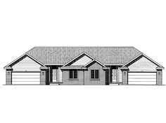 Ranch House Plan with 2716 Square Feet and 2 Bedrooms from Dream Home Source | House Plan Code DHSW23083