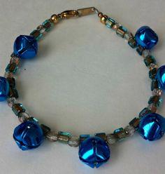 Bracelet  Jingle Bells in Blue by CountryCatDesigns on Etsy