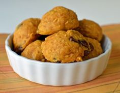 Healthy and yummy.. low-fat whole-wheat pumpkin cookies.