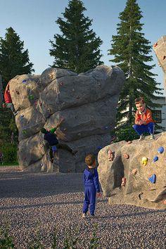 Indoor Climbing, Climbing Wall, Rock Climbing, Fake Rock, Rock Formations, Playgrounds, Malaga, Bouldering, Public