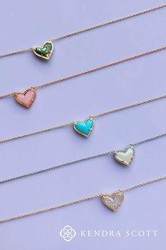 Kendra Scott Valentine Necklace: Heart Necklaces - Every gal needs a whimsical heart necklace in their jewelry box. Explore our heart necklaces found - Moon Jewelry, Heart Jewelry, Opal Jewelry, Cute Jewelry, Jewelry Box, Jewelry Ideas, Jewelry Accessories, Diamond Initial Necklace, Gold Choker Necklace