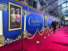Walking the Red Carpet at the #Cinderella Premiere