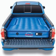AirBedz Original Truck Bed Air Mattress for Full Sized Short Bed Trucks. Cutouts on each side allow the mattress to fit around and over the wheel wells in a pick up truck, creating a sleep area that utilizes the entire truck bed. Truck Tent, Truck Camping, Family Camping, Tent Camping, Camping Gear, Camping Hacks, Outdoor Camping, Camping Stuff, Camping Essentials