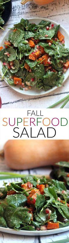 fall superfood salad. Vegan