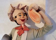 Klumpe Doll Chef Spain Effanbee 10.5 Inches Felt Painted Features Vintage