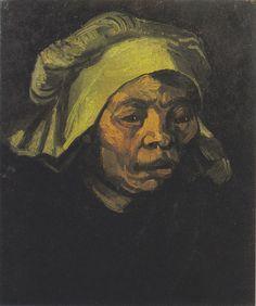 Van Gogh - Kopf einer Bäuerin mit weißer Haube, 1884
