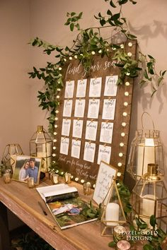 DIY Rustic Wedding Seating Chart Find all the details on how to make this gorgeous rustic seating chart with lights! Help the wedding go off without a hi. Rustic Seating Charts, Rustic Wedding Seating, Table Seating Chart, Pallet Wedding, Seating Chart Wedding, Wedding Table, Wedding Reception, To Go, Planer