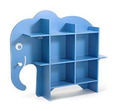 Blaues Elefantenregal