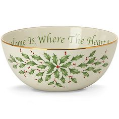 Holiday� Where the Heart Is Sentiment Bowl by Lenox