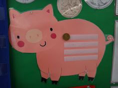 Keep track of the school days with money! Every day add a penny to match the number of the day. Trade coins when appropriate. Chorally count and write amount of money. Ask questions like....If Today we have .26 cents. How many cents will we have in 10 days?