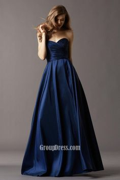 strapless, sweetheart, navy blue gowns - Google Search