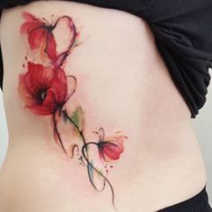 Aquarelle abstraite tatouage jemka coquelicots tora sumi Sydney - Minimalisme 2019 - Watercolor tattoos might age badly - Insider Model Tattoos, Body Art Tattoos, New Tattoos, Sleeve Tattoos, Tatoos, Poppy Tattoo Sleeve, Circle Tattoos, Tattoo Ink, Arm Tattoo