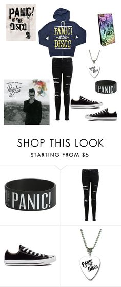 """Panic! at the Disco"" by dremy01 ❤ liked on Polyvore featuring Miss Selfridge and Converse"