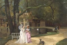 Promenade de la Reine par Joseph Caraud, 1874