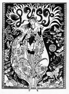 Chris Price for Biba – Lust Biba Fashion, Mats Gustafson, 7 Sins, Rene Gruau, Seven Deadly Sins, Sale Poster, Illustrators, Art Nouveau, Illustration Art