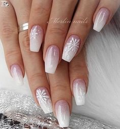40 Gorgeous Ombre Nail art 2019 – Reny styles 40 Gorgeous Ombre Nail art 2019 – Reny styles,Nails Related Crazy Cute Winter Nail Designs Worth Copying This Year! Chistmas Nails, Xmas Nails, Holiday Nails, Christmas Acrylic Nails, Christmas Nails 2019, Winter Acrylic Nails, Simple Christmas Nails, Snow Nails, Christmas Manicure