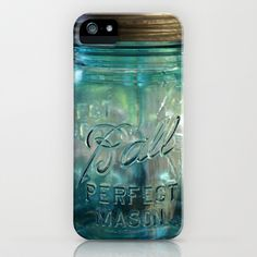 Vintage Blue Glass Canning Jars iPhone & iPod Case by Tammy Franck - $35.00