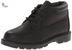 Timberland Youths 3 Eyelet Chukka Black Leather Boots 40 EU - Chaussures timberland (*Partner-Link)