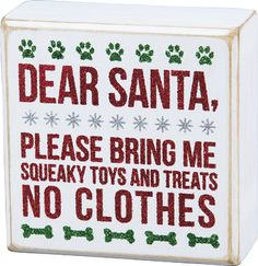 Christmas Decor and Box Signs for your Canines