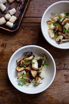 In The Kitchen With: Camille Becerra and Nicole Franzen - Gnocchi with Wild Mushrooms #recipes