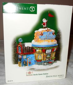 Department 56 North Pole Series ElfLand Arctic Game Station NEW